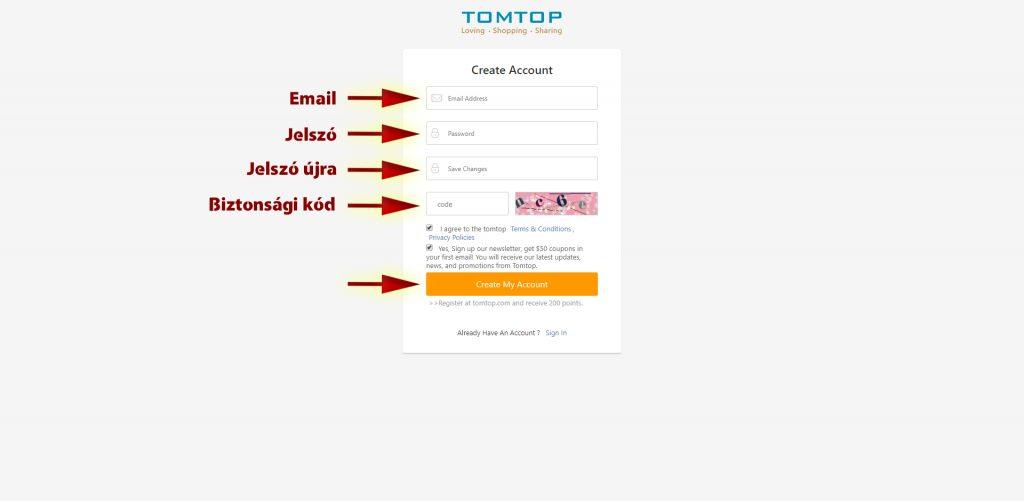 Tomtop rendelés